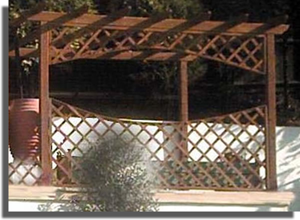 A purpose built pergola made to my own design.